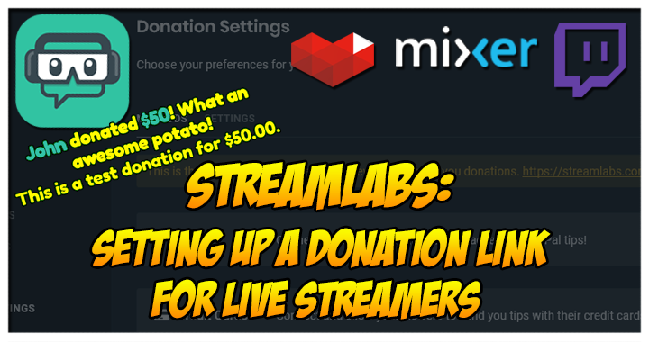 Setting Up A Donation Link For Live Streamers - Spammarino